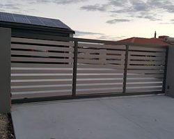 Aluminium Slat Sliding Vehicle Gate