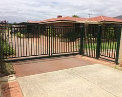 Sliding Automatic Security Gate , Pedestrian Gate & Fence Infill
