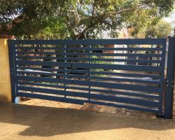 Aluminium Staggered Double Swing Vehicle Gates